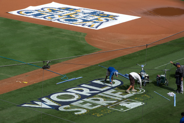 World Series Logo at Dodger Stadium