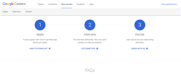 careers google Recruitment Process