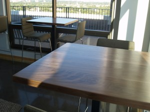 2 Walnut High Top Tables - Four Fields Furniture MN 55118