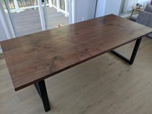 custom walnut dining table mn