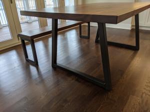 custom walnut dining table minneapolis