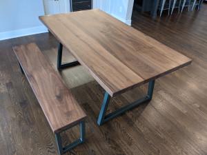 custom walnut dining table st. paul