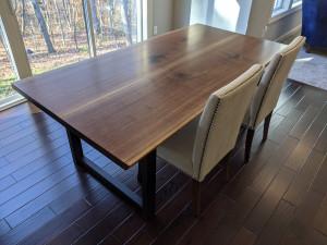 custom walnut live edge dining table mn