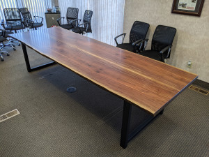 walnut live edge conference table mn