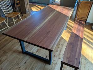 custom walnut live edge dining table st. paul mn