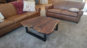 walnut live edge coffee table mn