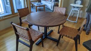 custom walnut circle table minneapolis mn6