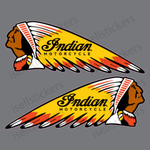 BM-12032-RY-Indian-Motorcycle-War-Bonnet-Gas-Tank-Pair-Decal-Sticker