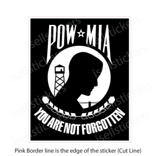 MI-6000 POW MIA Prisoners of War Decal Sticker