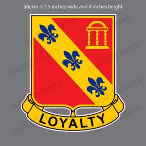 US Army 319th Field Artillery Regiment Military Bumper Sticker Window Decal