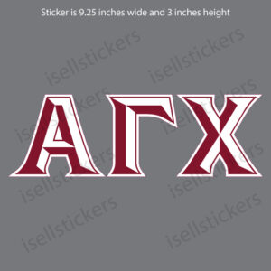 Alpha Gamma Chi Chiseled Car Window Decal Bumper Sticker