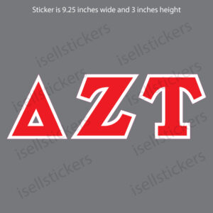 Delta Zeta Tau Standard Car Window Decal Bumper Sticker