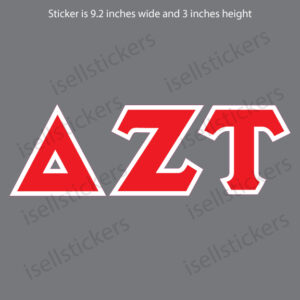 Delta Zeta Tau Old School Window Bumper Sticker Car Decal