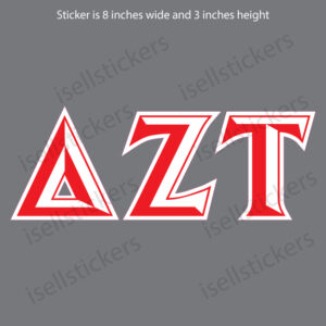 Lee University Delta Zeta Tau Chiseled Window Bumper Sticker Car Decal