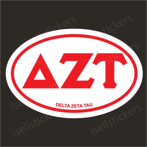 Lee University Delta Zeta Tau Euro Window Bumper Sticker Car Decal