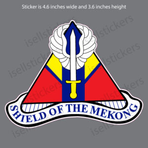 Army 13th Combat Aviation Battalion Shield of the Mekong Car Truck Bumper Sticker Window Decal