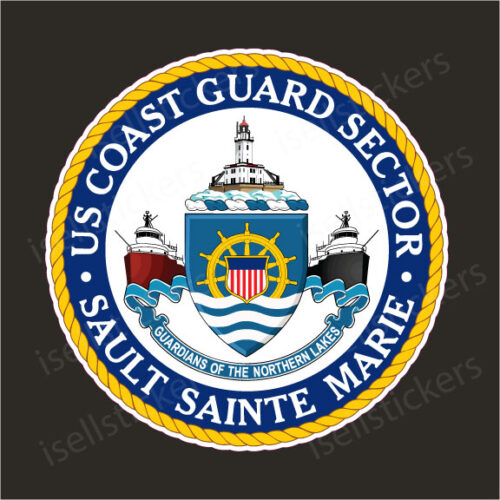 US Coast Guard Sault Sainte Marie USCG Military Vinyl Bumper Sticker Window Decal