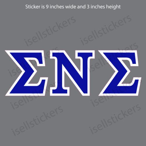 Lee University Sigma Nu Sigma Standard Window Bumper Sticker Car Decal