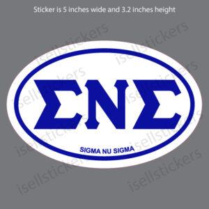 Lee University Sigma Nu Sigma Euro Window Bumper Sticker Car Decal