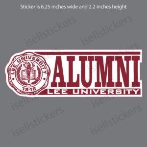 Lee University Alumni Window Bumper Sticker Car Decal