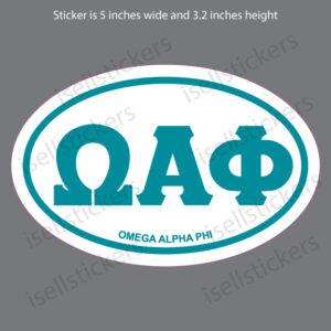 Lee University Omega Alpha Phi Euro Window Bumper Sticker Car Decal