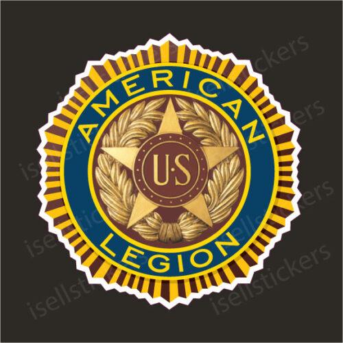 American Legion US War Veterans Logo Car Bumper Sticker Window Decal