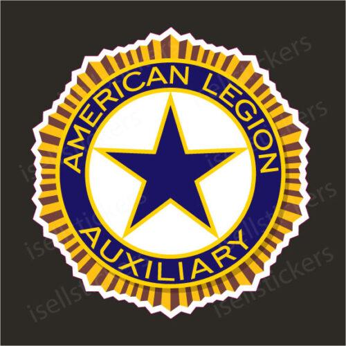 American Legion Auxiliary US War Veterans Logo Car Bumper Sticker Window Decal