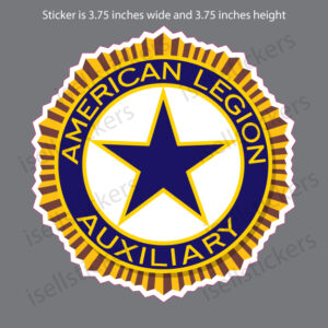 American Legion Auxiliary US War Veterans Logo Car Bumper Sticker Window Decal