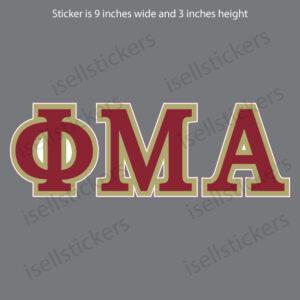Lee University Phi Mu Alpha Standard Greek Window Decal Car Bumper Sticker