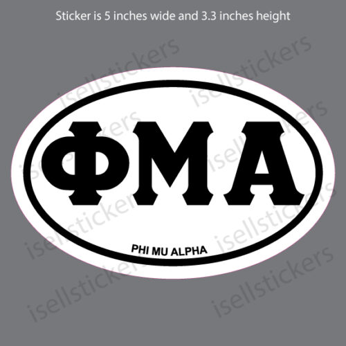 Lee University Phi Mu Alpha Euro Greek Window Decal Car Bumper Sticker