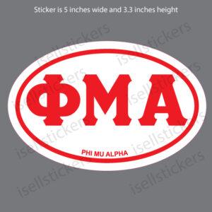Lee University Phi Mu Alpha Euro Greek Window Decal Car Bumper Sticker Red