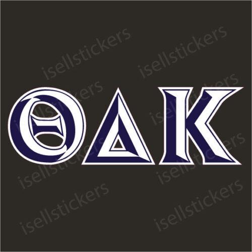 Lee University Theta Delta Kappa Chiseled Window Bumper Sticker Car Decal