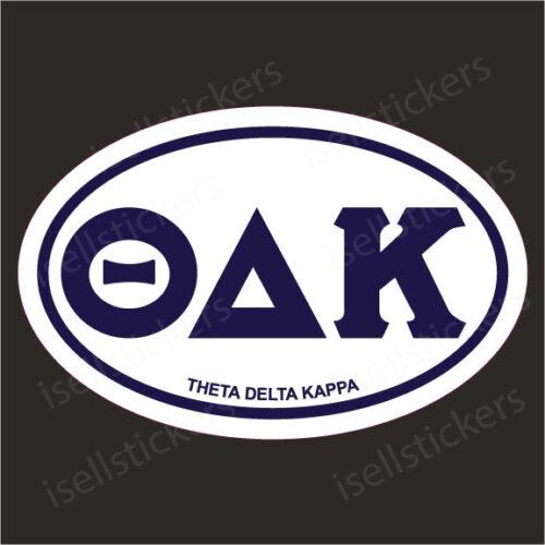 Lee University Theta Delta Kappa Euro Window Bumper Sticker Car Decal