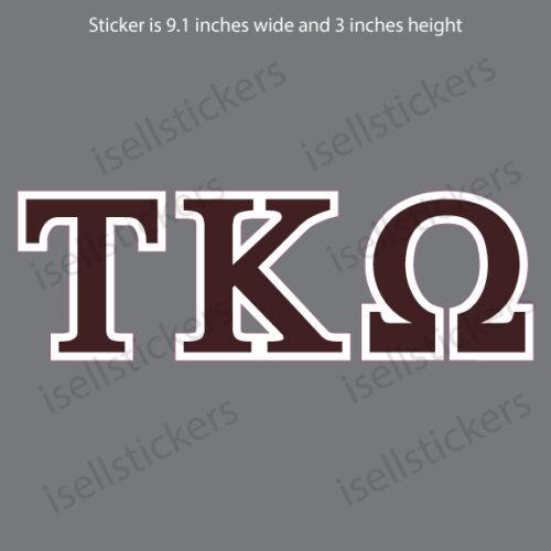 Lee University Tau Kappa Omega Standard Window Bumper Sticker Car Decal