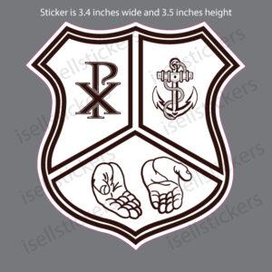 Lee University Tau Kappa Omega Crest Window Bumper Sticker Car Decal