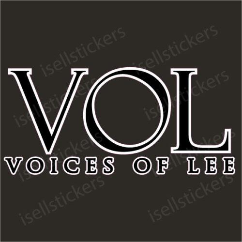 Lee University Voices of Lee Window Decal Bumper Sticker