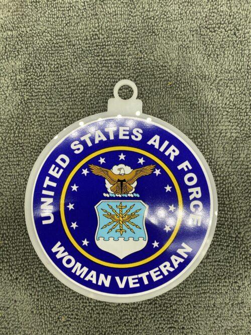Air Force Woman Female Veteran Christmas Tree Ornament