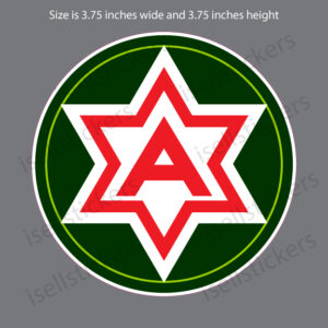 Sixth 6th Army Theater Alamo Force Bumper Sticker Window Decal