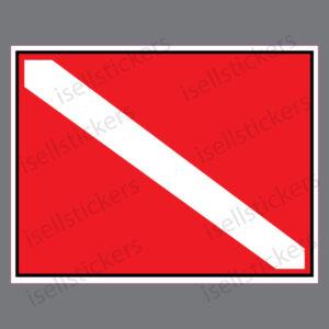 Diver Down Scuba Flag Decal Sticker
