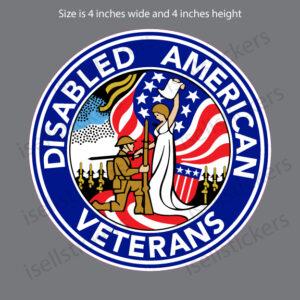DAV Disabled American Veterans Military Decal Sticker