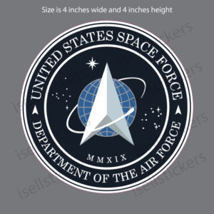 US Space Force Logo Military Air Force Bumper Sticker Window Decal