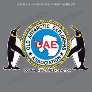 OAE Old Antarctic Explorers Association Bumper Sticker Window Decal