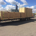 large crate on truck outside