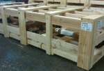 low profile wood crate