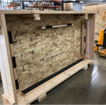 open wood crate