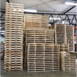 wood pallets stacked