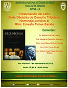 Presentación Libro: Siete décadas de Derecho Tributario