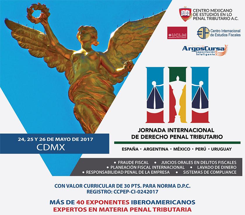 25 Mayo: Invitación – JORNADA INTERNACIONAL DE DERECHO PENAL TRIBUTARIO