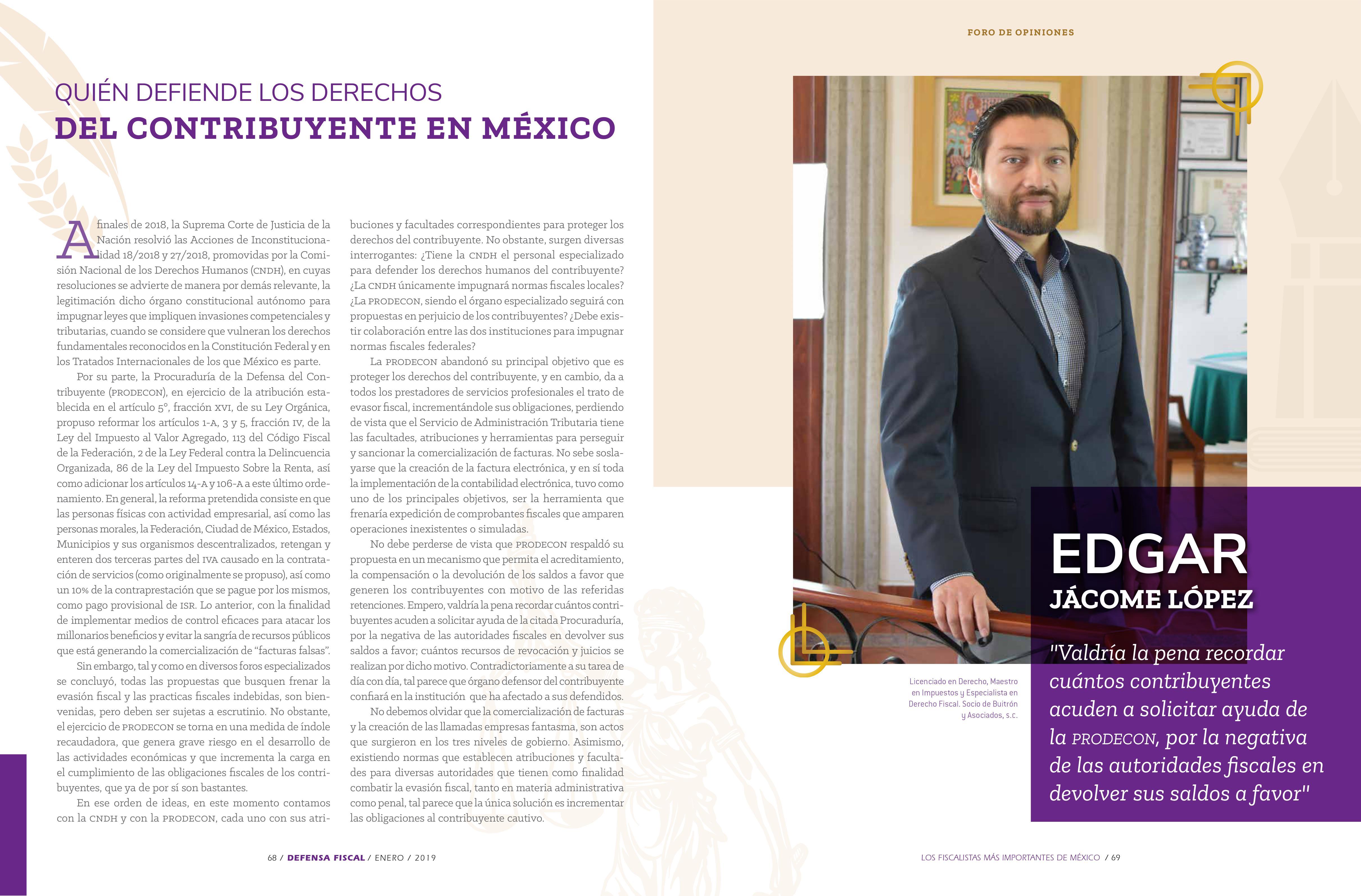 QUIÉN DEFIENDE LOS DERECHOS DEL CONTRIBUYENTE EN MÉXICO