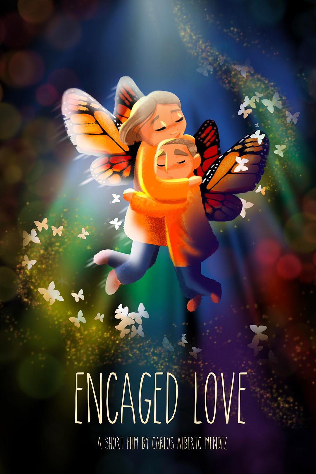 Poster-encagedLove - Carlos Mendez